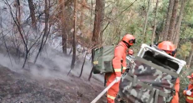 西昌森林火灾|泸山中线、北线正在清理余火 南线仍有明火