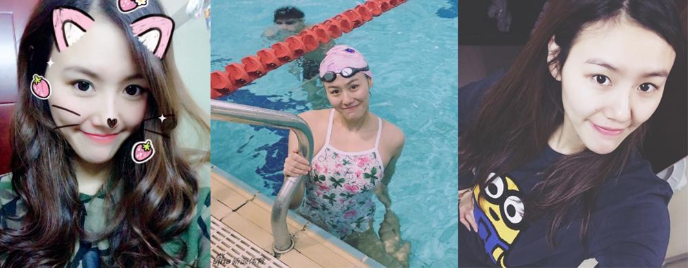游泳女神刘湘新自拍皮肤白皙