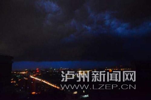 23日-24日泸州暴雨9站 最大降雨量纳溪上马99.4毫米