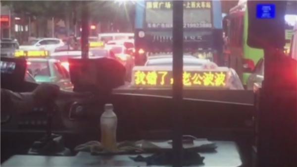 广元男子租626辆出租车顶灯道歉 但妻子并没有原谅他