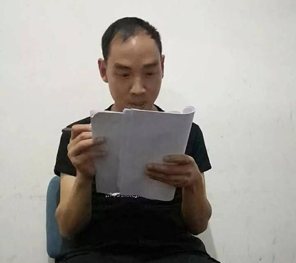 42岁的刘小平在备考。受访者供图