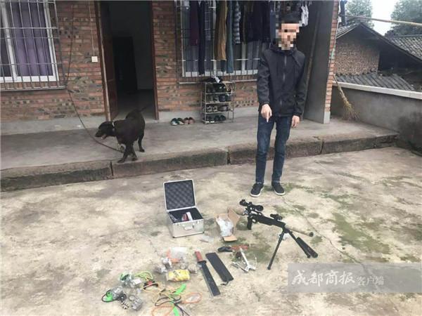 乐山19岁微商被抓 他竟在朋友圈卖起了仿真枪