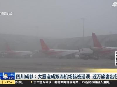 大雾造成双流机场航班延误  近万旅客出行滞留