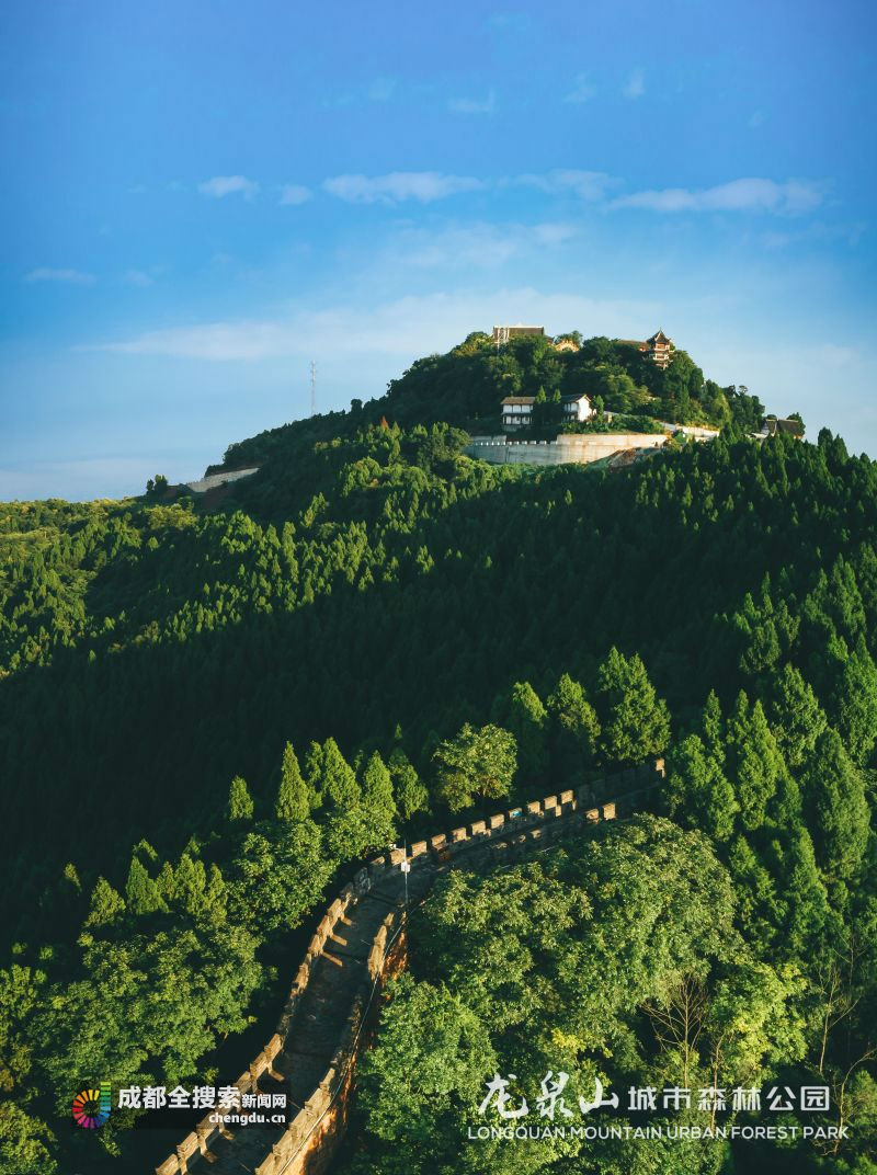 美不胜收 航拍龙泉山城市森林公园