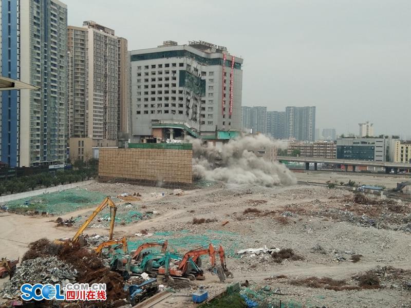 成都人的会展记忆:沙湾会展中心贵宾楼爆破拆除