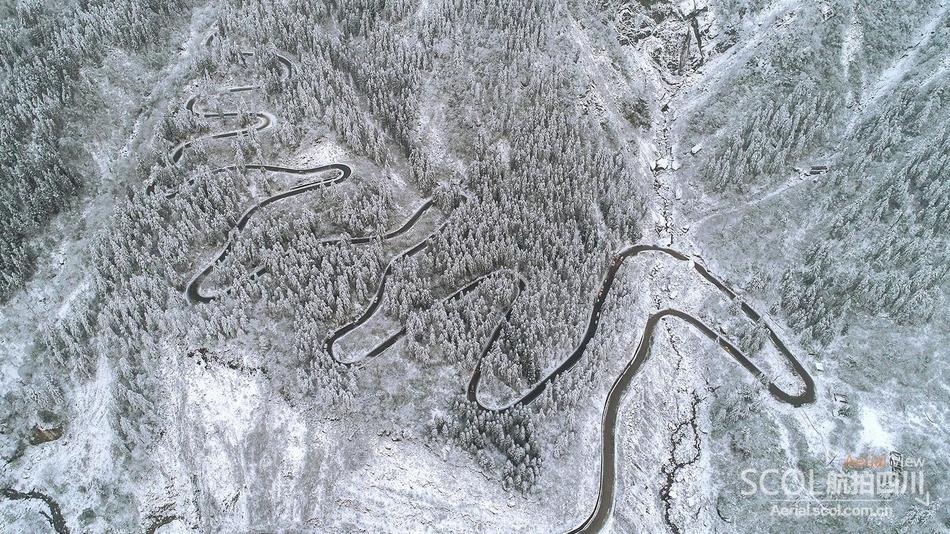 朋友圈看雪不过瘾 这是四川最全雪景航拍集合