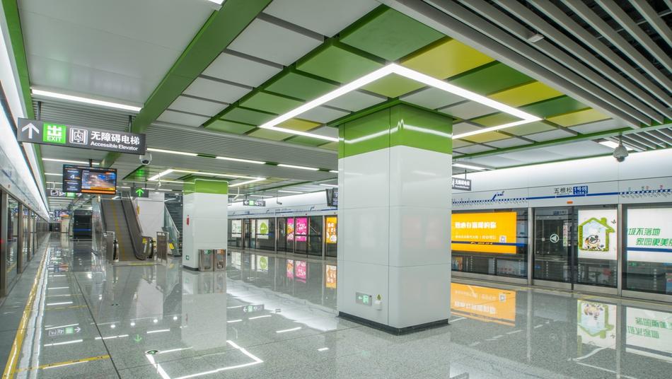 成都地铁1号线三期工程车站亮相