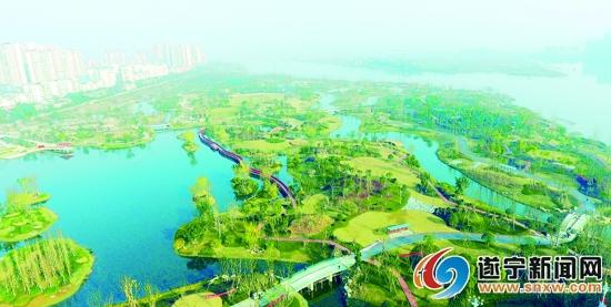 遂宁九莲洲湿地公园:市民休闲观光好去处
