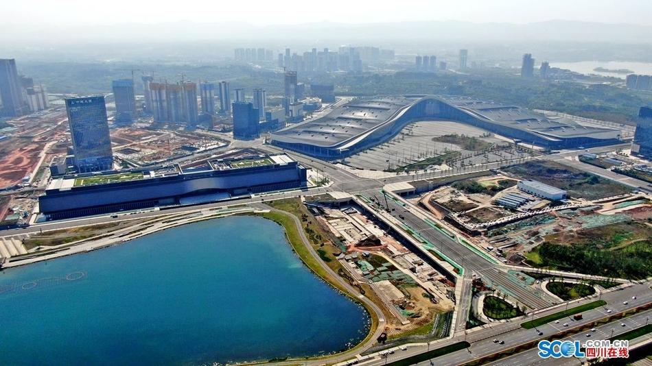 航拍成都新地标:建设中的天府国际会议中心