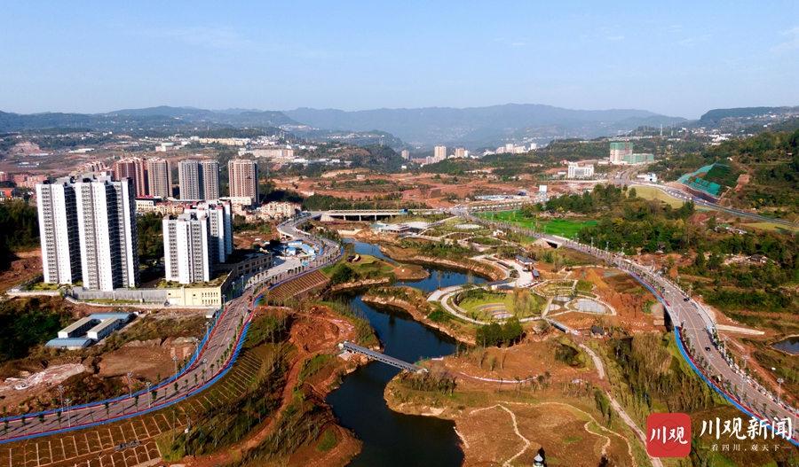通江:生态修复 荒芜地变身为生态湿地公园