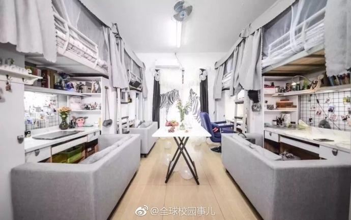 颜值爆表!四川高校学生打造北欧风宿舍