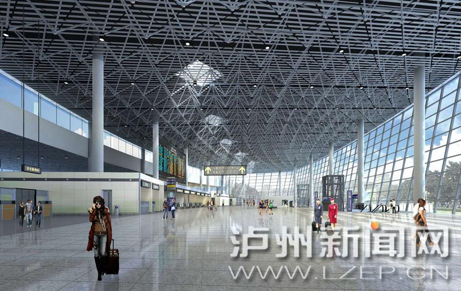 泸州云龙机场航站楼全面进入内部装修
