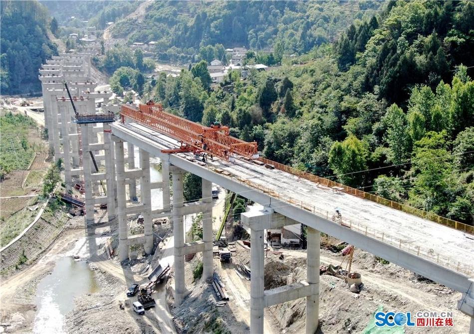 广元至平武高速公路建设进展顺利