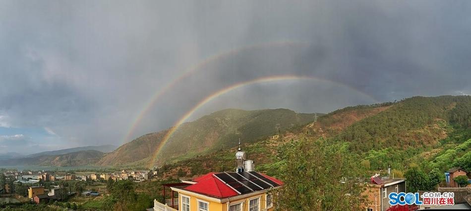 太美了!西昌又见双彩虹