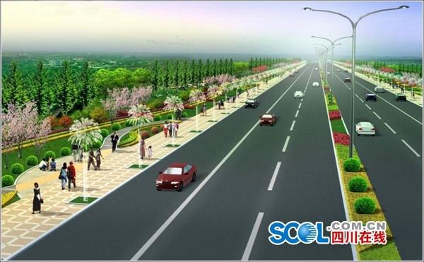 双向六车道时速60公里 雅安雨名快速通道开建