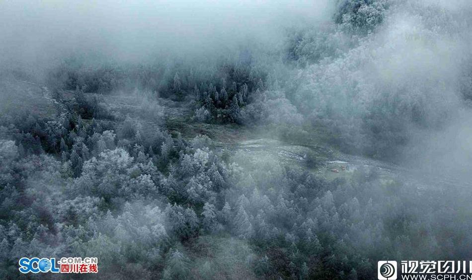 谁说南方没雪景 Wuli大四川的雪景是不加特效的美