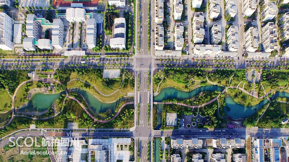 航拍展带你走进绵阳市北川 鸟瞰魅力新北川的繁荣景象