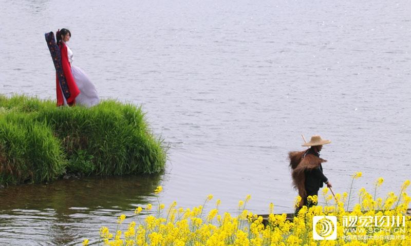 美丽三月 川西坝子上的诗和田野