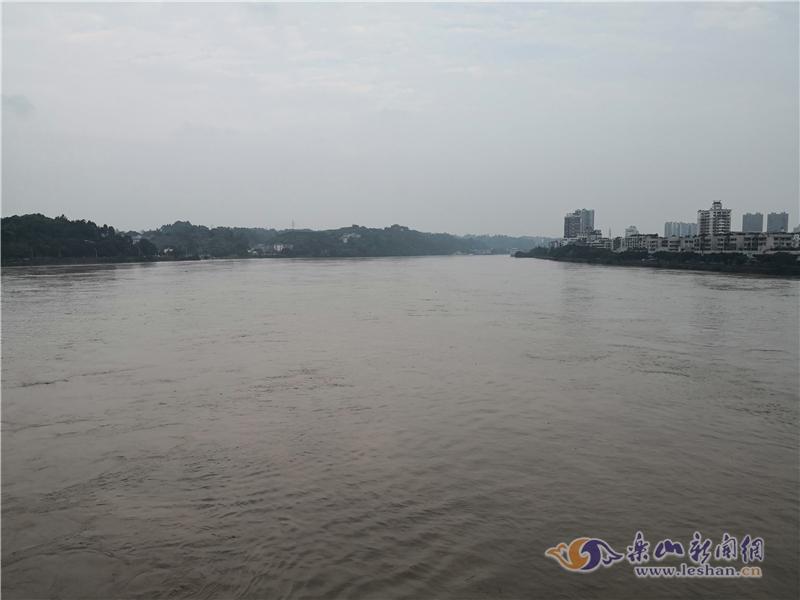 【图说】上游洪水袭来 乐山三江水涨