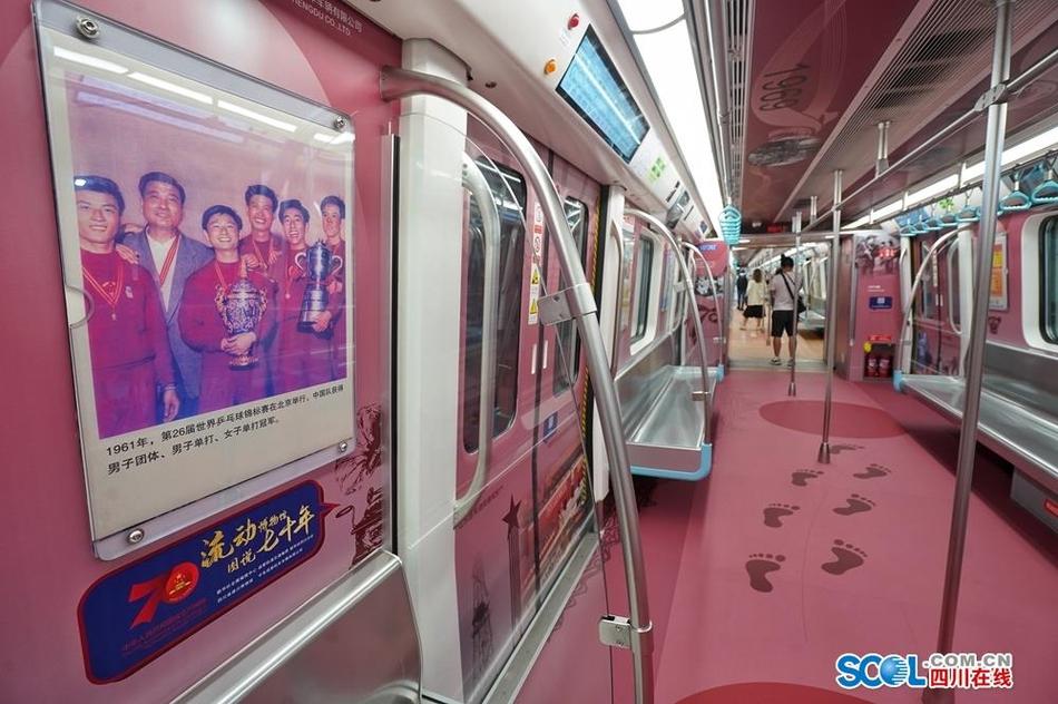 成都地铁流动博物馆主题列车上线 快来打卡时间长廊