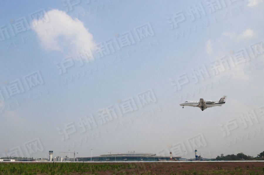 【高清】泸州云龙机场飞行校验工作继续进行