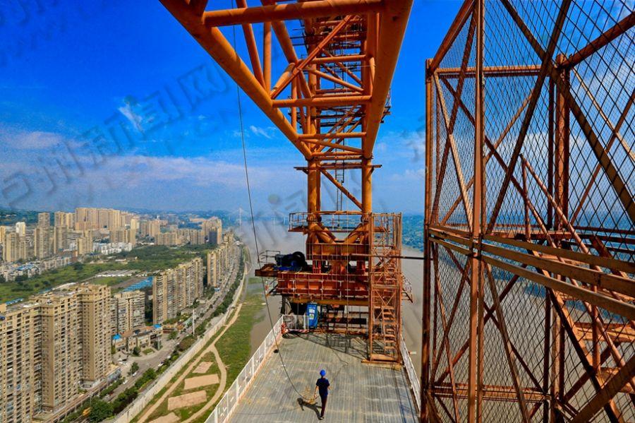 合江长江大桥建设如火如荼 预计2019年8月底完工