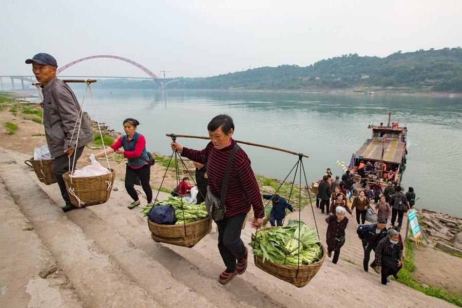 泸州:一桥飞架南北 长江古渡口将结束千年摆渡