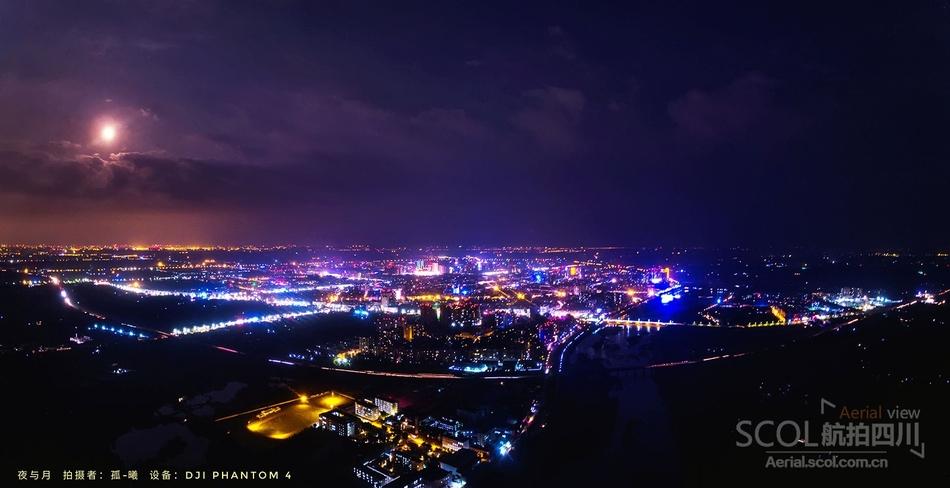 云端视角下瞰城市光芒纪