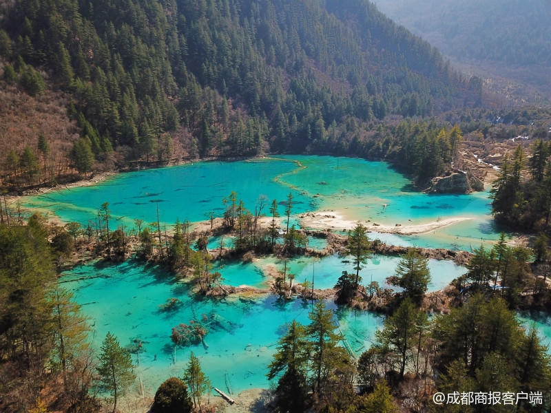 九寨沟3月8日重新开放 火花海已形成新景观