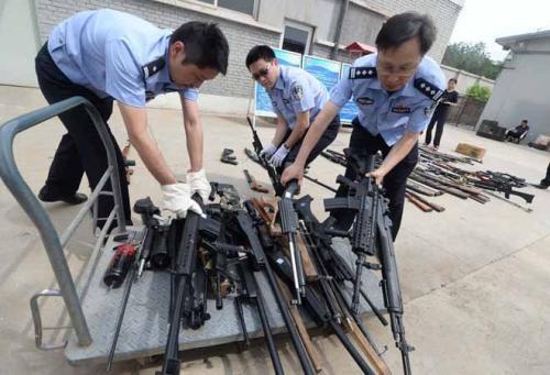 李刚制枪案 四川仁寿警方抓获45人缴枪34支