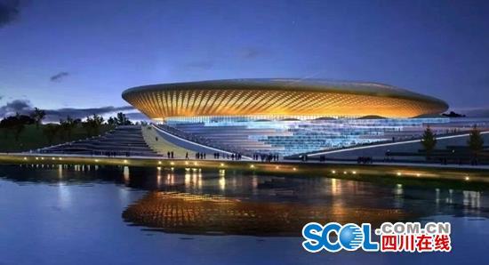 成都金堂通用航空机场会展中心主会场场平工程完工