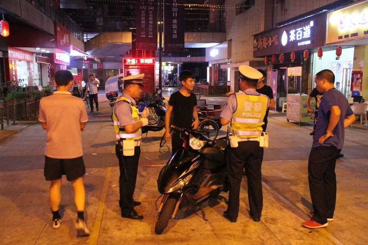 """遂宁市交警支队开展""""赛摩""""整治 查处摩托车违法行为160余起"""