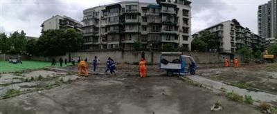 成都这里建筑垃圾1天清运完毕 辖区内待建地块将集中排查