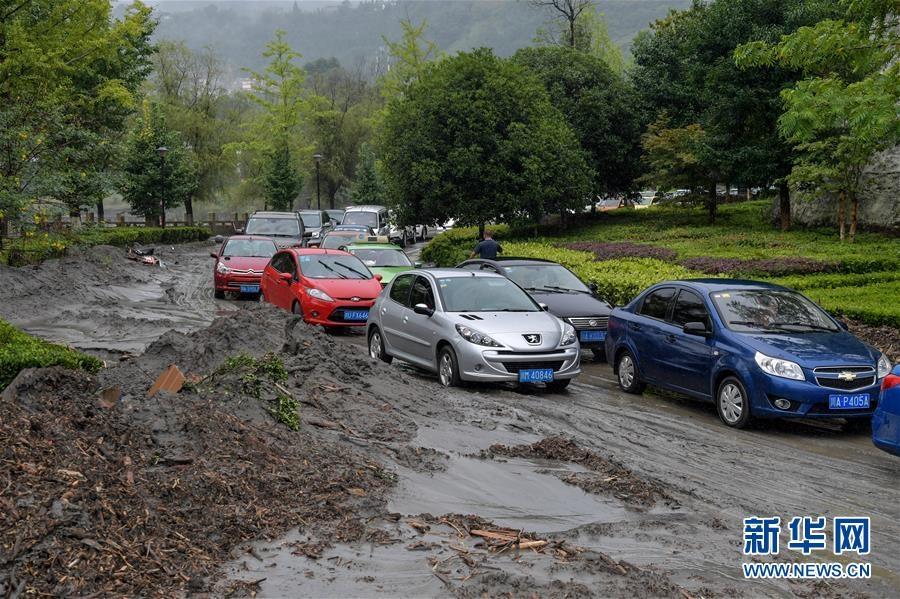 """汶川灾情直击:桥梁损毁,车辆""""上树"""""""