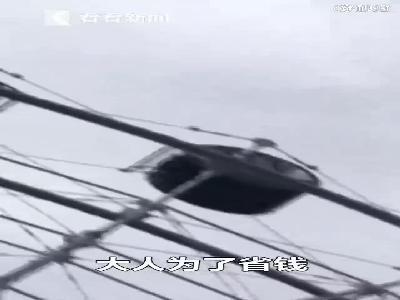 视频|男童独自坐摩天轮爬出座舱 头被卡护栏悬挂半空