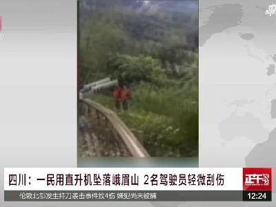 视频 一直升机坠落峨眉山景区 2名飞行员受轻伤