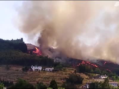 四川宜宾男子扫墓引发山火烧了几个山头 已被警方控制