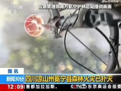 视频丨四川凉山州冕宁县森林火灾已扑灭
