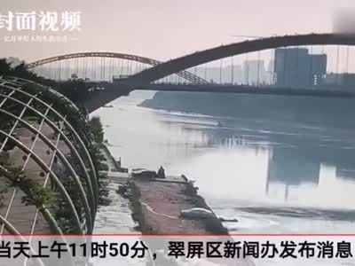 视频丨四川宜宾一轿车倒车时坠入金沙江 事发地水深近20米