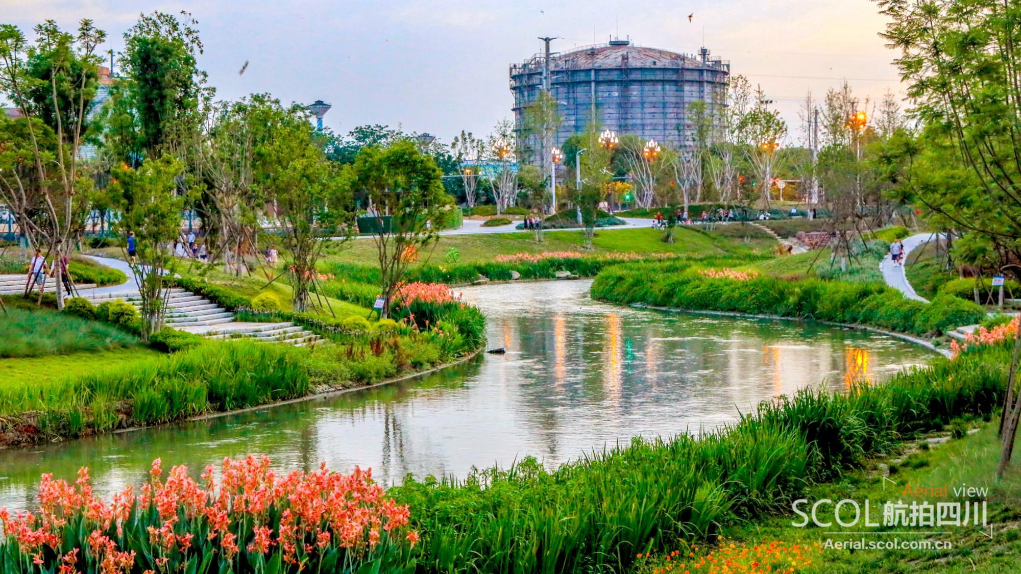 青白江︱脱胎换骨,长流河变身湿地公园