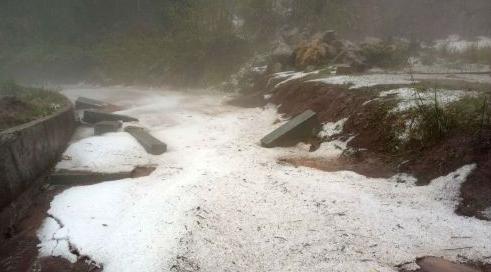 泸州叙永多地出现汤圆般大小冰雹