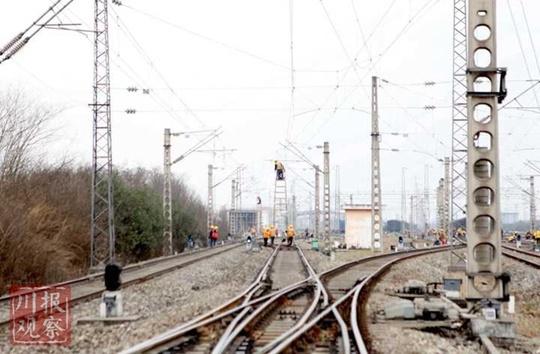 全国规模第二大铁路编组站接触网进行集中整治