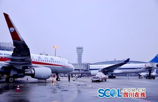 成都机场今迎返程客流小高峰