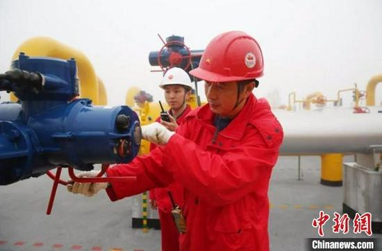 """西南地区最大天然气""""粮仓""""注气量创新高 为今冬调峰保供储能"""