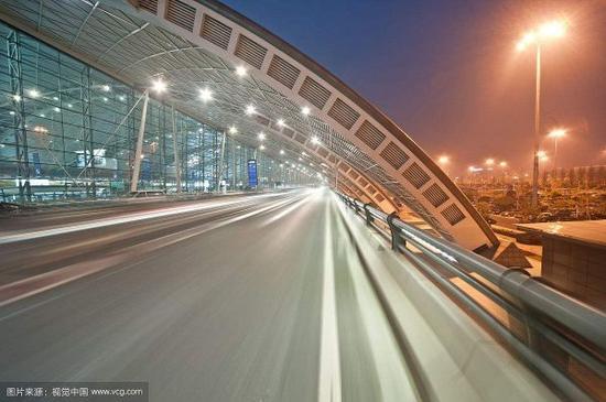双流机场夜景风光