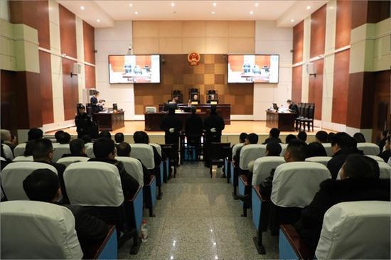 庭审现场(旺苍县法院供图)