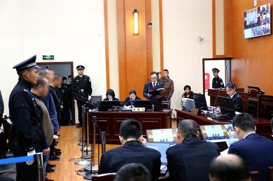 庭审现场。(丹棱县检察院供图)