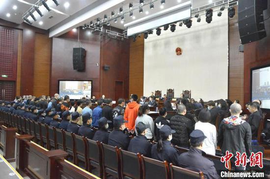庭审现场。四川省泸州市江阳区人民法院供图
