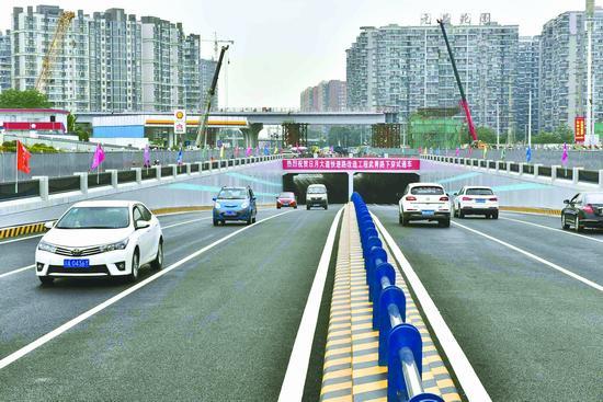 成都武青路下穿隧道通车 打通日月大道首个堵点