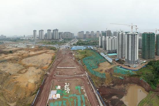 城区直达高铁站缩短10余分钟 隆昌万隆路预计2024年全线通车